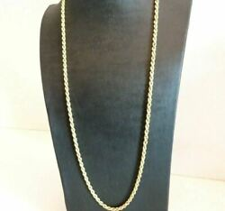 Long Necklace Torchon Yellow Gold Solid 18k Vintage Yearsand039 70 Made In Italy