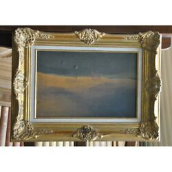 Vintage 20th Rare Original Mirage Oil Canvas Painting Unsigned Framed