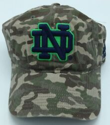 Ncaa Notre Dame Fighting Irish Adidas Youth Camo Adjustable Slouch Cap Hat New