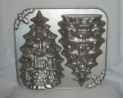 Nordic Ware 3d Christmas Tree Cake Pan 10 Holiday Cast Aluminum 9 Cups