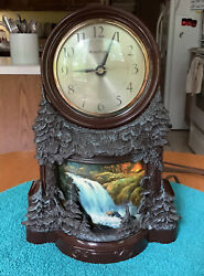 Vintage Mastercrafters Clock With Lighted Moving Waterfalls