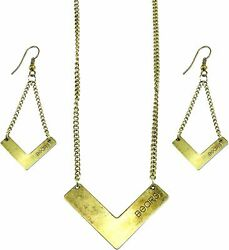 Nfl Chicago Bears Chevron Necklace And Earring Jewelry Suite