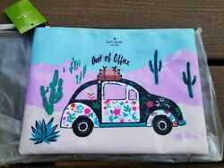 Kate Spade New Horizons Out Of Office Gia Clutch Cosmetic Makeup Bag $56.00