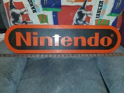 Vintage Retro Nintendo Store Display Sign Black And Red 1980s