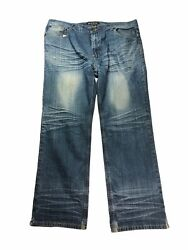 Red Snap Designer Jeans Medium Wash Big And Tall 40 X 31 M-24 9952