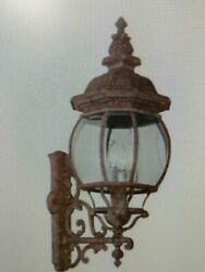 Trans Globe 4052 Rt Outdoor Wall Lantern Light With Beveled Glass Shades17ab