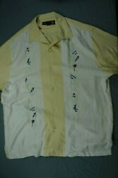 Nat Nast 100 Silk Charlie Sheen Style Bowling Shirt Limited Edition 31. L Read