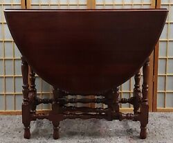 Vintage English Gate Leg Table Drop Leaf Excellent Detailed Rare Maybe 1920's