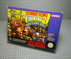 Donkey Kong Country 2 Diddyand039s Kong Quest - Super Nintendo - Complet - Pal Fah