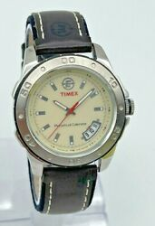 Menand039s Timex Expedition Perpetual Calendar Silver Tone Watch Beige Dial T42201