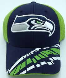 Nfl Seattle Seahawks Adidas Youth Adjustable Back Cap Hat Beanie New