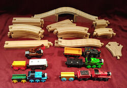 Huge Lot Thomas And Friends Wooden Trains, Track And Accessories- Over 300 Pieces
