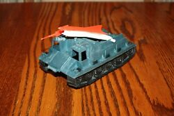 Mpc Vintage Army Battlefront And Space Metallic Blue Missile-firing Tank - Marx