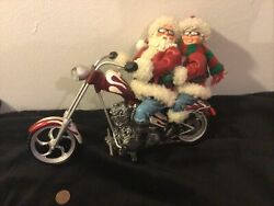 Possible Dreams Limited Biker Santa Motorcycle Mr. And Mrs. Claus Chopper Pdl