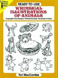 Ready-to-use Whimsical Illustrations Of Animals Dover By Turi Maccombie Vg+