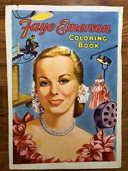 Faye Emerson Coloring Book Cover Proof 1952 Late Night Tv Pioneer Vintage