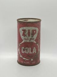 Zip Cola Flat Top Soda Can-12 Fl., Oz., - Chicago, Ill - Very Htf Rare Vintage