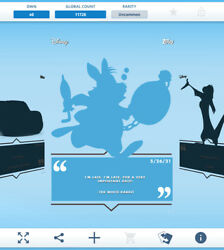 Topps Disney Collect - 2021 Daily Disney May 26 - The White Rabbit Silhouette