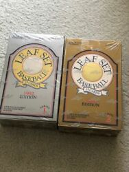 1992 Leaf Baseball Boxes Series 1 And 2 Sealed Boxes 36 Packs Gold Leaf Rookies