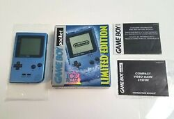 Ice Blue Limited Edition Nintendo Game Boy Pocket Complete In Box Cib Tested