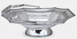 1806 George Iii Sterling Silver Cake Basket W/ Handle By Robert And David Hennell