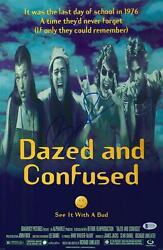 Ben Affleck Signed 12 X 18 Dazed And Confused Movie Poster - Bas Coa