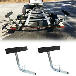 Boat Trailer 2and039 Side Guide Bunk Board Guide-on Carpeted Kit W/ Hardware