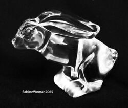New In Box Steuben Glass Hopping Hare Bunny Rabbit Peter Ornamental Paperweight