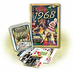 1968 Mini Book And Trivia Playing Cards Combo Happy 51st By Peter Hess New