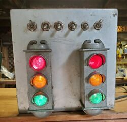 2 Vintage Stadco Life Saver Traffic Signaling Car Brake Light Accessory 1950and039s