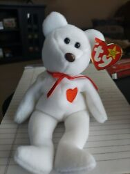 Valentino Beanie Baby With Brown Crooked Nose, 12 Tag Errors, And Pvc Pellets