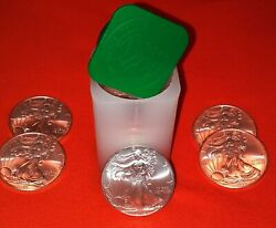 2009-1 Oz American Silver Eagle-lot, Roll Of 20- Mint Condition Free Shipping