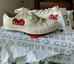 Off-white Converse X Cdg Half Heart Chuck 70 Low Sneakers Size 3m/5w