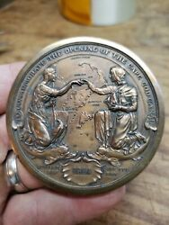 Antique 1914 Reed And Barton Bronze Cape Cod Canal Opening Medal Medallion Coin