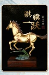 22and039and039 Classical Bronze Crafts Home Decorate Statue Blessing Prosperity Horse