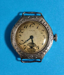 Antique Elgin Watches Engraved Bezel Smosseco Second Hand Rare Items Hand-wound