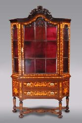 Dutch Glass-front In Old Antique Style Of The 18. Century