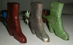 3x Lido Plastic Cowboy Western Boot Whistle