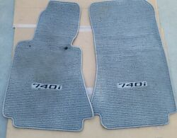 1995 2001 Bmw E38 740i Tweed Floor Mat Mats / Gray Rh Lh / Embroidered / Front