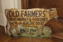 Cow Farmers Market Wall Signprimitive/french Country Farmhouse Kitchen Decor