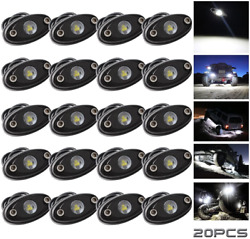 Ledmircy Led Rock Lights White 20pcs Kit For Off Road Truck Rzr Auto Car Boat Of
