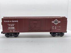 O Gauge Mth Rail King No.30-7413 Texas And Pacific Tandp 41200 Semi-scale Boxcar