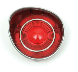 Chevelle Taillight Lens, Except Wagon, With Chrome Trim, Left, 1971 50-205717-1