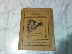 Vintage Book 1906 Recipes For Home Cooking De Laval Separator Co.