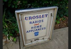 Vintage Crosley Radios And Home Appliances Lighted Neon Advertising Sign