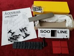 Accurail Soo Line 40' Ps-1 3423 Steel Boxcar 137814 Red Doors Knuckle Couplers