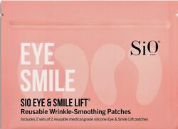Sio Eye And Smile Lift Wrinkle Smoothing 2 Patches Anti-aging Reusable Skincare