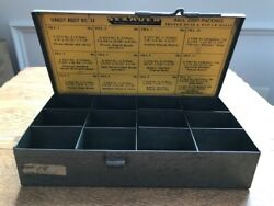 Vintage Sexauer Metal Ball Joint Box - Handy Andy No. 14 - 7 In X 3.75 X 1.5