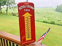 Vintage 50's Royal Crown Cola Thermometer/sign