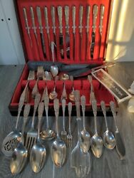 Westmoreland Milburn Rose Sterling Silver Service For 12.92 Pcs Set Exc. Cond
